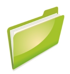 Green file folder icon vector