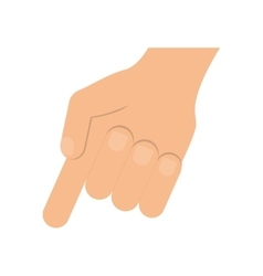 Hand icon gesture with fingers design vector