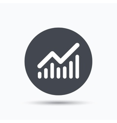 Graph icon business analytics chart sign vector