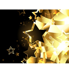 Abstract golden background with stars vector image vector image