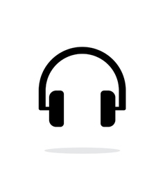 Audio headphones icon on white background vector image vector image