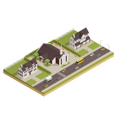 Church cathedral neighborhood isometric vector