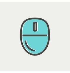 Computer mouse thin line icon vector