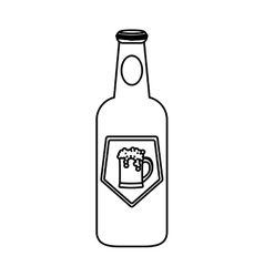 contour bottle of beer icon design vector image vector image