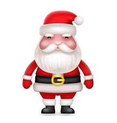 Cute 3d realistic cartoon santa claus toy vector