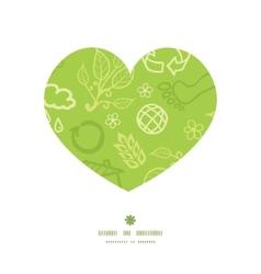 Environmental heart silhouette pattern frame vector