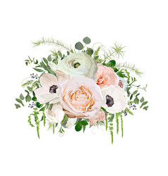 flower bouquet design object element peach pink vector image vector image