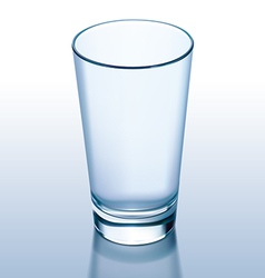 Glass empty vector image vector image
