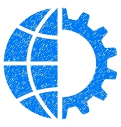 Global Industry Grainy Texture Icon vector image vector image
