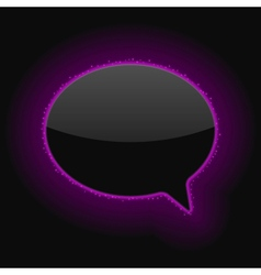 Glowing Speech Bubble vector image vector image