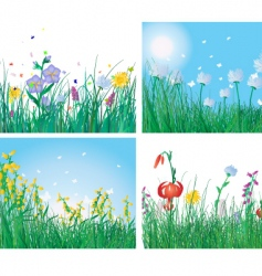 grass backgrounds vector image vector image