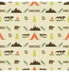 Hiking seamless pattern Hiking trail seamless vector image vector image