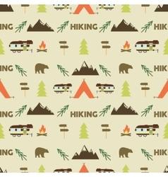 Hiking seamless pattern hiking trail seamless vector
