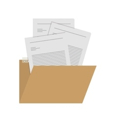Isolated file design vector
