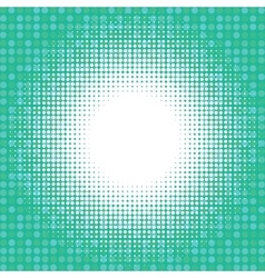 Light halfton on green digital background vector image