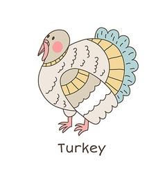 Lineart turkey vector image