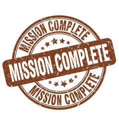 Mission complete vector