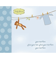 New baby boy shower card vector