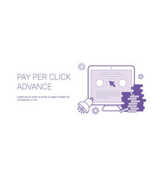 pay per click advance business concept template vector image
