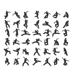 People in motion in different positions vector