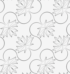 Perforated diagonal maple leaves on vine vector