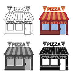 pizzeria icon in cartoon style isolated on white vector image vector image