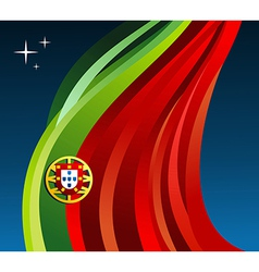Portugal flag background vector image