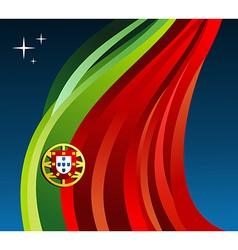 Portugal flag background vector