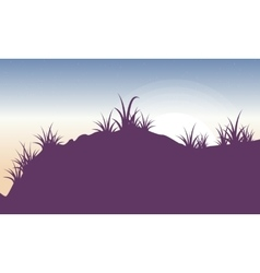 Silhouette of grass landscape backgrounds vector image