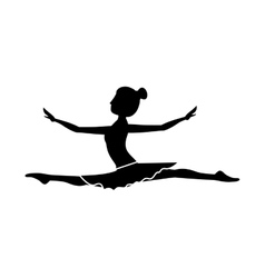silhouette with dancer position spear vector image vector image