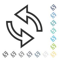 Update arrows icon vector