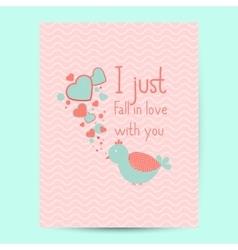 Valentines day gift card handdrawn design vector