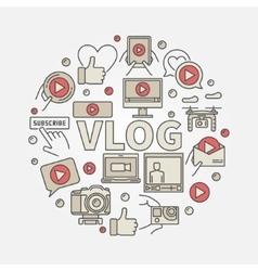 Vlog circular colorful vector
