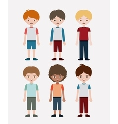 Isolated boys kids design vector