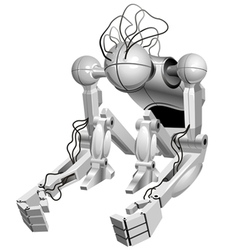 Sitting robot vector