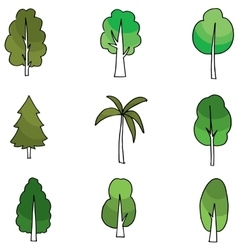 Silhouette of tree flat vector image