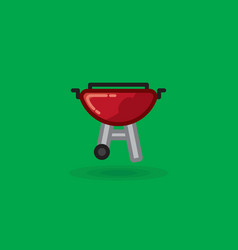 Icon on barbecue for picnic vector