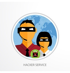 Hacker service web icon vector