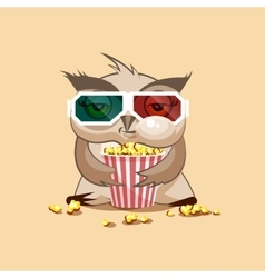 Owl watching a movie vector