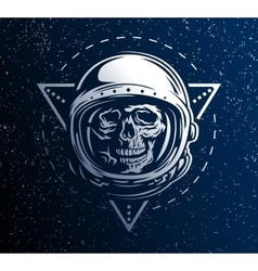 Dead astronaut in a spacesuit vector