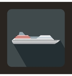 Cruise liner icon in flat style vector
