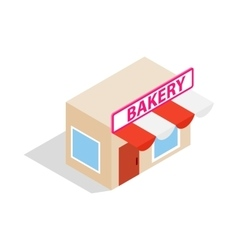 Pastry shop icon isometric 3d style vector