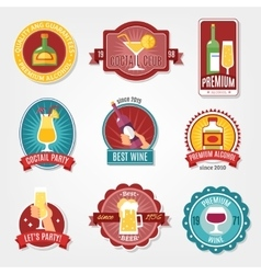 Alcohol labels design set vector