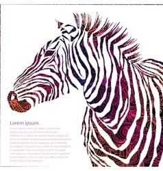 Animal ornamental silhouette zebra vector