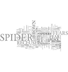 Arachnophobia and other fears text word cloud vector