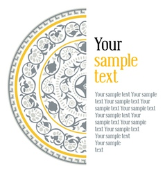 asian pattern with text vector image vector image