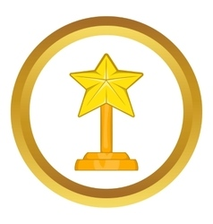 Award star icon vector