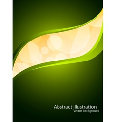 Background in green color vector image vector image