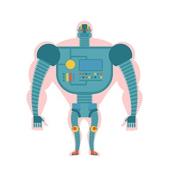 Bio robot structure man with cybernetic vector