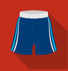 Boxing shorts icon in flate style isolated on vector